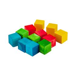 Kika - Tahta Küp 12li Karışık Renkli