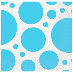 Kikajoy - Turkuaz Karışık Puantiyeli Kağıt Peçete 33x33 cm 20'li