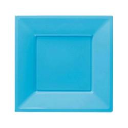 - Turkuaz Plastik Kare Tabak 23 cm 8'li