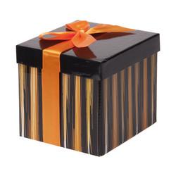 - Turuncu Katlanabilir Hediye Kutusu 12,5x12,5 cm