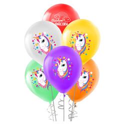 - Unicorn Baskılı Pastel Balon