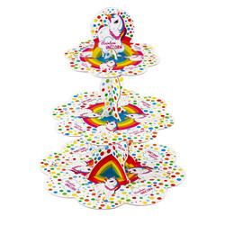 - Unicorn Rainbow Lisanslı Cupcake Standı