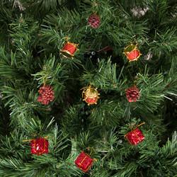 - Kikajoy Yılbaşı Çam Ağacı Kırmızı Davullu Süs Seti 12'li