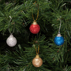 - Kikajoy Yılbaşı Çam Ağacı Simli Toplar Süs Seti 12'li