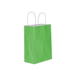 Kikajoy - Yeşil Büküm Saplı Kraft Çanta 15x20cm