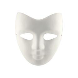 Kika - Boyanabilir Yarım Yüz Karton Maske